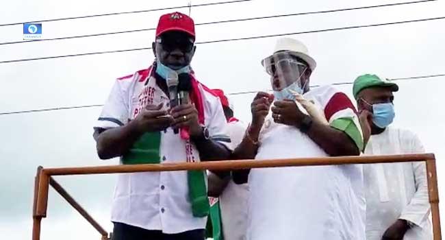 Edo Election: Obaseki's Campaign Train Hits Etsako Central, Promises More Development