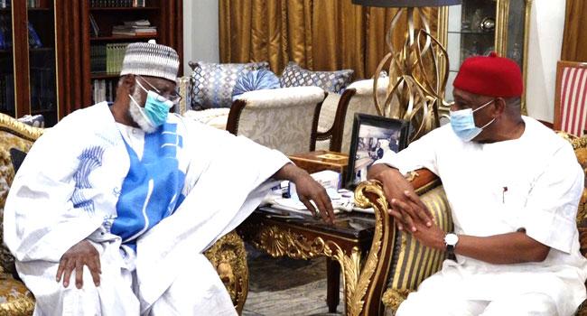Kalu Visits IBB, Abdulsalami, Faults Zoning Of 2023 Presidency
