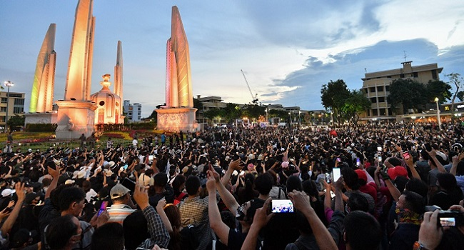Latest Thailand Pro-Democracy Protest Draws At Least 10,000