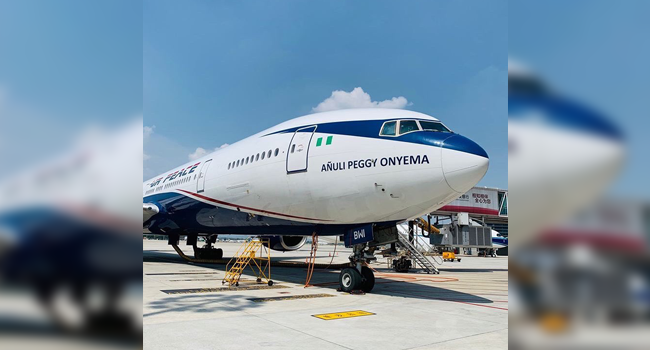 A photo of an Air Peace plane. Credit: Air Peace