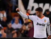 In this file photo taken on November 30, 2019 Valencia's Spanish midfielder Ferran Torres celebrates after scoring during the Spanish league football match between Valencia CF and Villarreal CF at the Mestalla stadium in Valencia. JOSE JORDAN / AFP