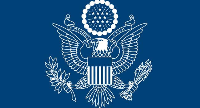 Insignia of the US Mission in Nigeria as published on August 7, 2020.