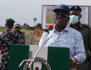 Ebonyi State Governor, Dave Umahi, laid the foundation stone of the Nigerian Army Reference Hospital in Abakaliki, on August 7, 2020.