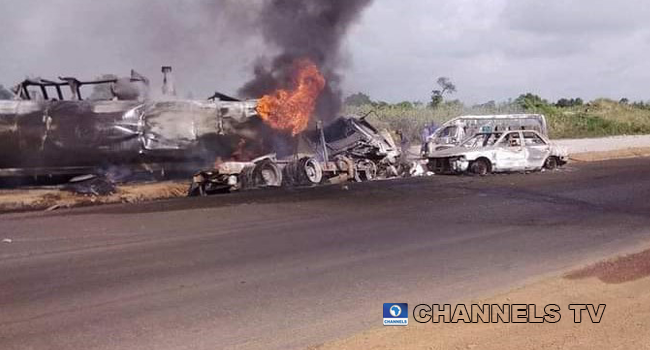 Two persons were reported killed on August 19, 2020, after two tankers collide in Niger State.