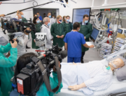 German Health Minister Jens Spahn (R) visits the intensive care unit of the University Medical Center of Schleswig-Holstein (UKSH) on August 19, 2020 in Kiel. Christian Charisius / POOL / AFP