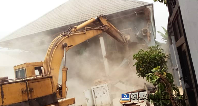House Of Architect Who Demolished Enugu Airport Fence Destroyed