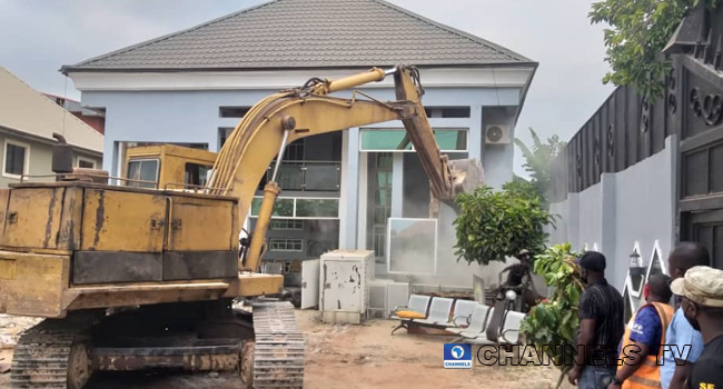 House of Architect John Emejulu was destroyed on August 14, 2020.