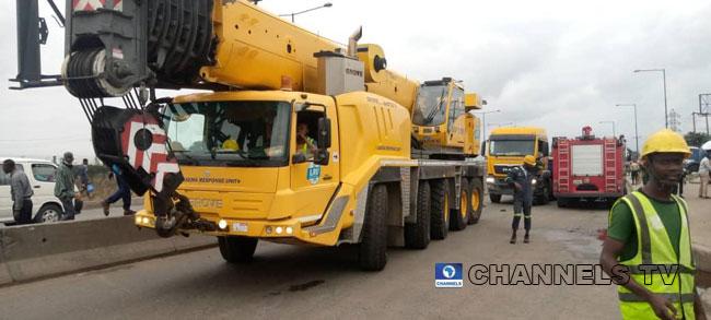 Diesel-Laden Truck Crashes In Apapa After Brake Failure