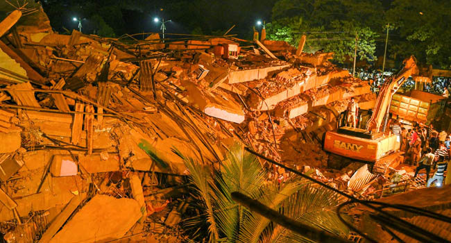 One Dead, Over 70 Trapped As Five-Storey Building Collapses In India
