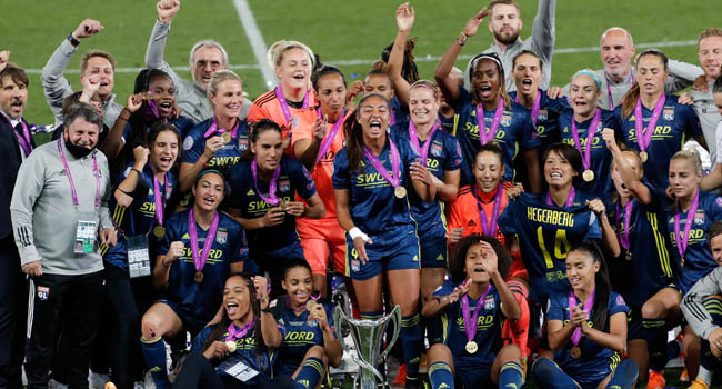 Dominant Lyon Beat Wolfsburg To Win Fifth Straight Women's Champions League