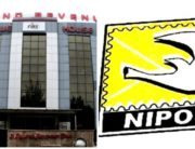 A photo combination created on August 4, 2020, depicting the Federal Inland Revenue Service and the Nigerian Postal Service.