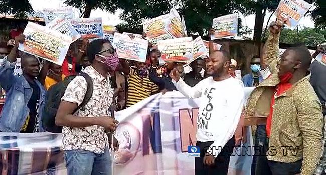 #RevolutionNow: DSS, Police Disperse Protesters In Abuja