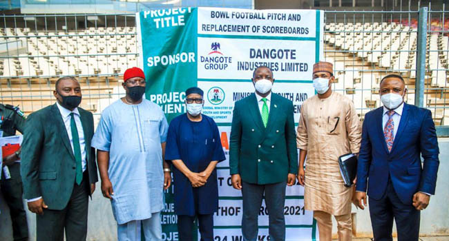 FG Hands Over Moshood Abiola Stadium Abuja To Dangote Group For Renovation