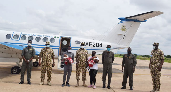 NAF Airlifts Conjoined Twins To Bayelsa After Successful Separation