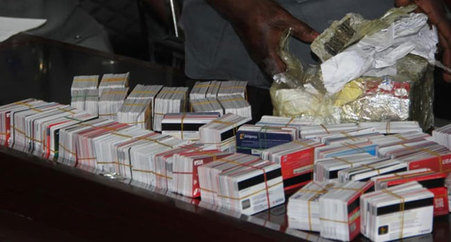 EFCC Quizzes Suspected Fraudster For Concealing 2,886 ATM Cards In Noodles