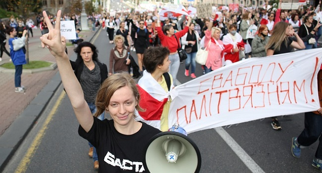 Belarus Protesters Keep Pressure On Lukashenko With New March