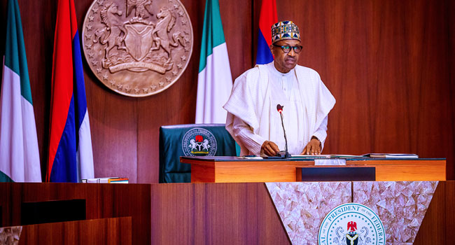 'We Just Have To Take Loans', Buhari Justifies Borrowing To Fund Infrastructure