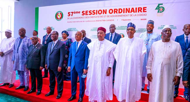 PHOTOS: Buhari Attends 57th Ordinary Session Of ECOWAS In Niger