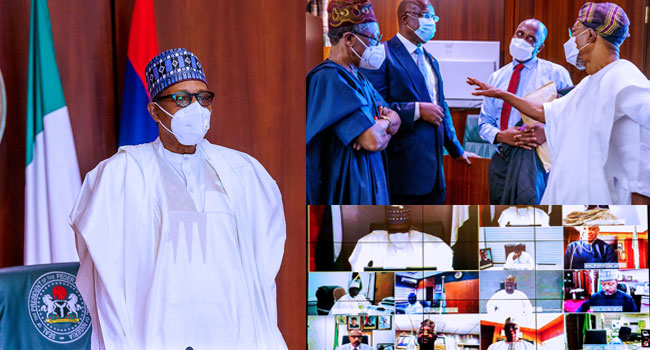 VP Osinbajo, CoS, Ministers, Present As Buhari Presides Over Virtual FEC Meeting