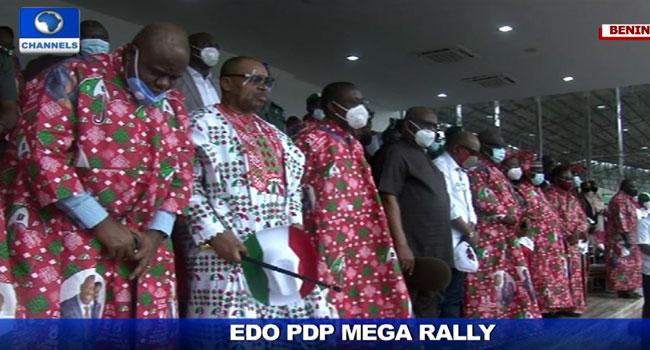 Edo 2020: Wike, Tambuwal, Makinde Other PDP Leaders Gather In Benin