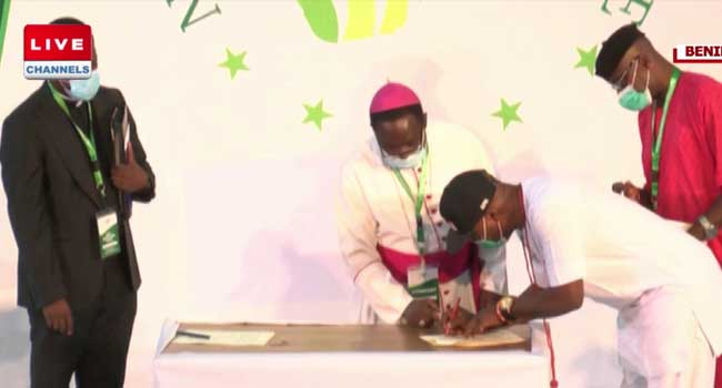 Candidates Sign Peace Accord Ahead Of Edo Election