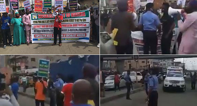 Fuel Hike: Police Arrest Protesters In Lagos