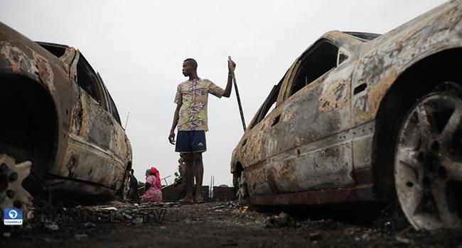 PHOTOS: Lagos Tanker Explosion Leaves Carnage Behind