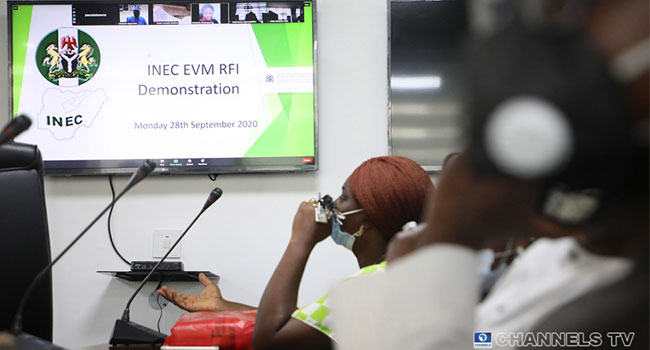 INEC Begins Demonstration For Electronic Voting
