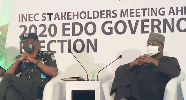 INEC Boss, IGP Meet Stakeholders Ahead Of Edo Governorship Poll