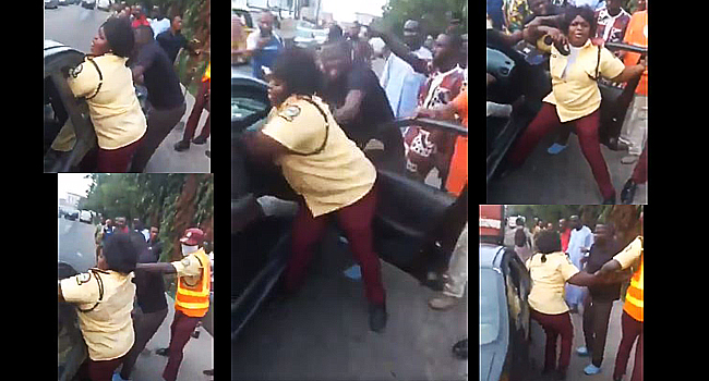 Viral Video: LASTMA To Investigate Officer Over Fight With Passenger