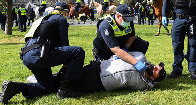 Police Arrest 17 Anti-Lockdown Protesters In Melbourne