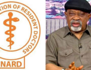 A combination of photos showing the NARD logo and the Minister of Labour and Employment, Chris Ngige.