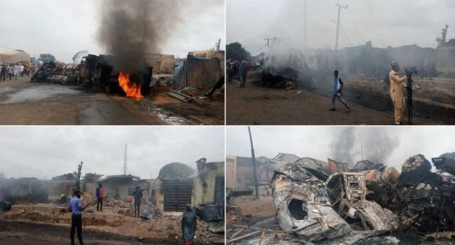 Explosion: Over 40 Shops Burnt Down As Trailer, Tanker Collide In Niger