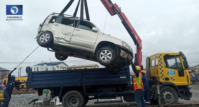 Photos From Scene Of Oshodi Accident