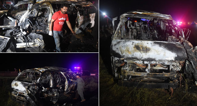 At Least 15 Dead In Pakistan Passenger Van Inferno