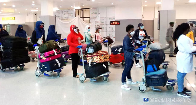 Human Trafficking: 70 Stranded Nigerian Girls Return From Lebanon