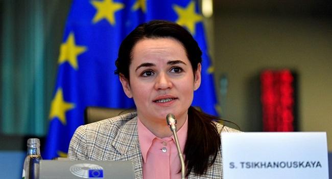 Belarus Opposition Leader Meets EU to urge sanctions