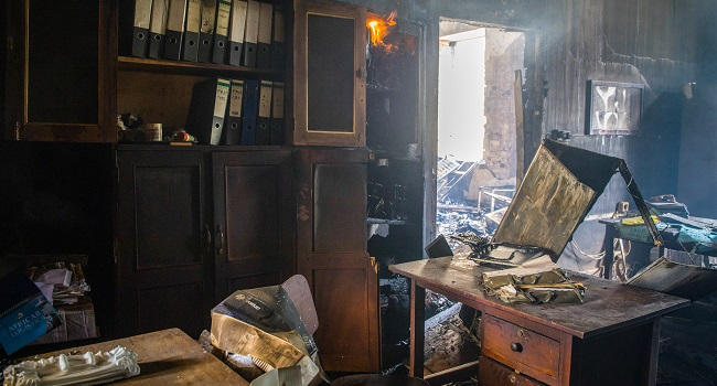Uganda Makerere University's 'Ivory Tower' Ravaged By Fire