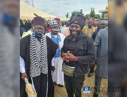 Photo of Terwase Akwaza alias Gana earlier today with Tor Sankera where he surrendered before their movement to Makurdi and was intercepted by the military in Gboko LGA