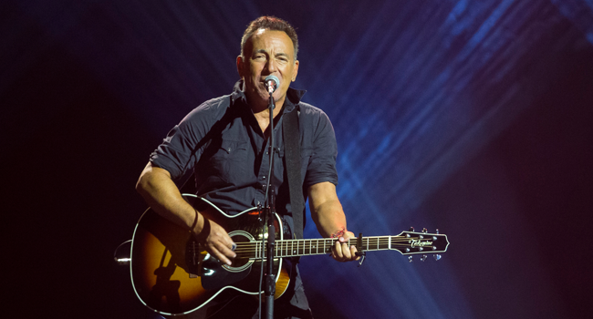 "In this file photo taken on September 30, 2017, Bruce Springsteen performs during the closing ceremony of the Invictus Games 2017 at Air Canada Centre in Toronto, Canada. Springsteen announced on September 10, 2020, he will release a new album on October 23, giving fans a sneak peek by dropping its title track ""Letter To You."" Geoff Robins / AFP"
