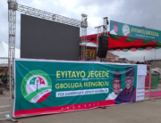 A photo showing the MKO Abiola park in Akure, venue of the PDP campaign flag-off for the Ondo governorship polls.