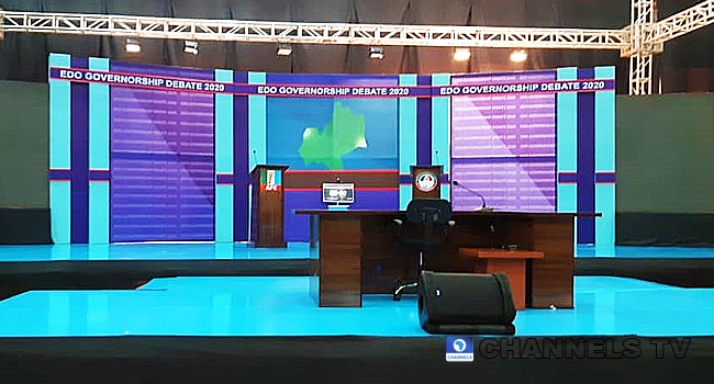 The stage is set for the debate, which is being held in Benin-city, the Edo state capital.