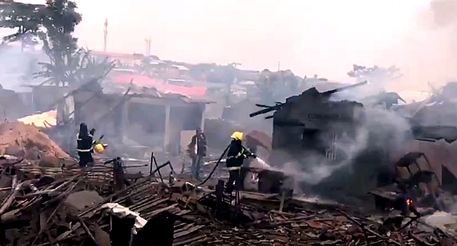 A gas explosion occurred in the Iju area of Lagos on September 24, 2020.