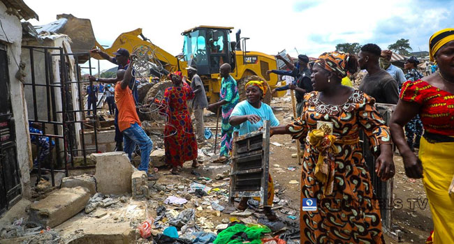 PHOTOS: Residents Rendered Homeless As FCTA Demolishes Structures In Utako