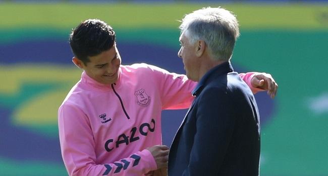 Ancelotti Praises James Rodriguez's Assist Tempo For Everton