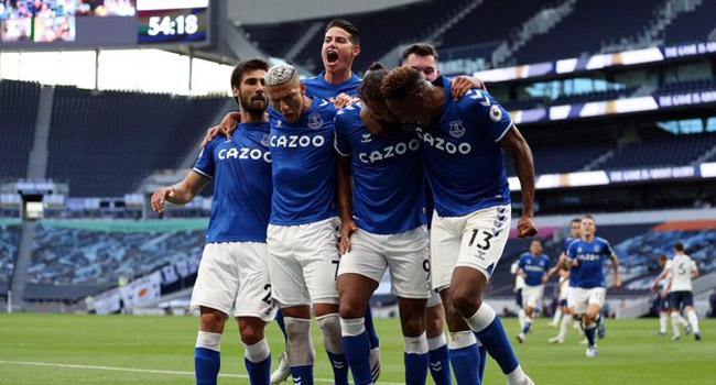 Everton Inflict Defeat On Mourinho's Tottenham As Calvert-Lewin Scores