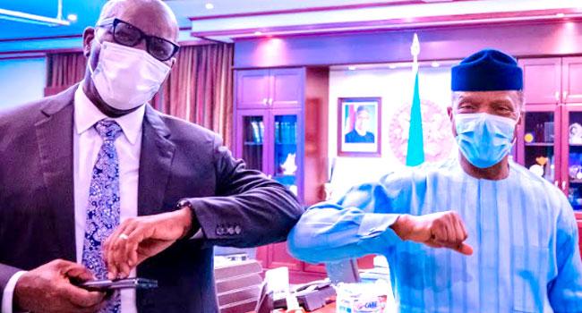 PHOTOS: Obaseki Visits Osinbajo In Abuja