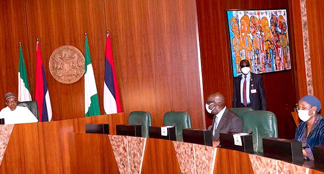 PHOTOS: Obaseki Pays 'Thank You' Visit To Buhari