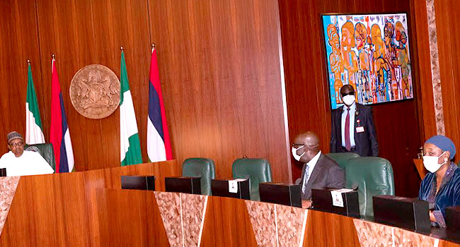 Thank You For Bringing Your Deputy To See Me After Beating My Party, Buhari Tells Obaseki