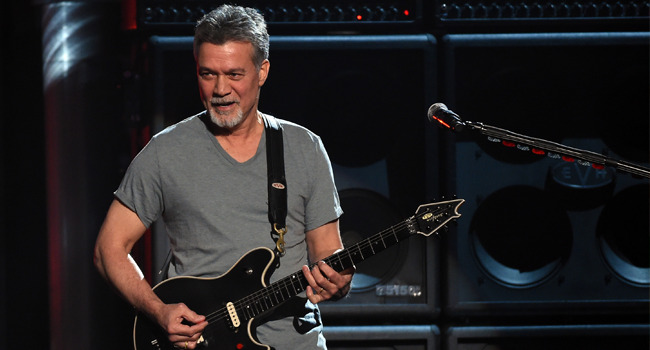 In this file photo taken on May 17, 2015 Musician Eddie Van Halen of Van Halen performs onstage during the 2015 Billboard Music Awards at MGM Grand Garden Arena in Las Vegas, Nevada. Ethan Miller / GETTY IMAGES NORTH AMERICA / AFP